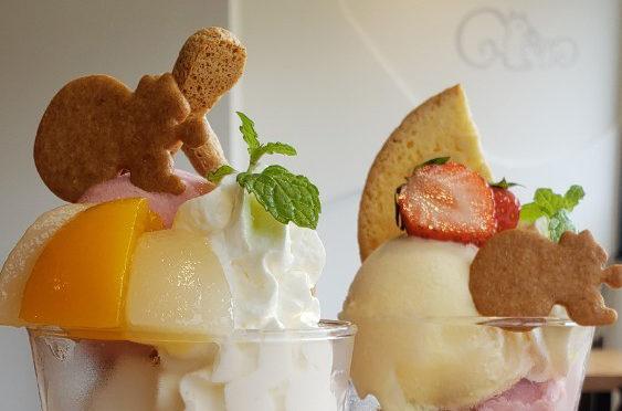 爽やかな桃パフェ クルミッ子カフェの夏のシーズナルパフェを食す♪